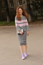 heather gray BeFree sweater