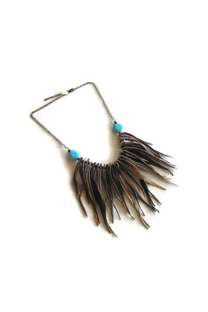 leatherfringe maslinda necklace
