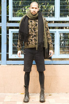Collection No 3 scarf - collection Priveè boots - leggings Izzue tights