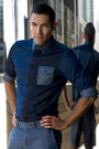 Blue-denim-shirt-customellow-shirt