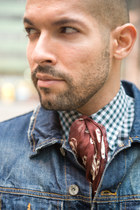 denim Topman jacket - checks Dries Van Noten shirt