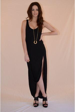 black cotton Latopic dress