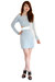 silver cotton bodycon Minty Meets Munt dress