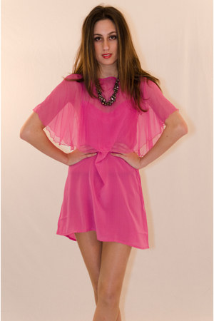 hot pink silk IIKOY dress