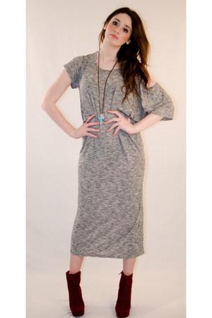 silver midi dress evil twin dress