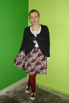 H&M skirt - Promod sweater - H&M t-shirt - Topshop shoes - Gift from a Friend ac