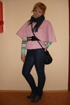 DIY jacket - Lacoste sweater - all H&M accessories - Bata shoes