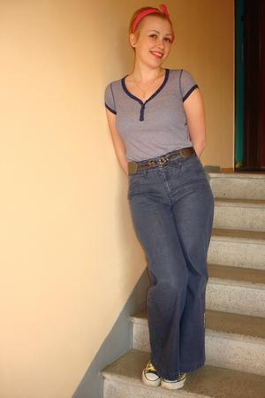 Ripcurl jeans - Atmosphere t-shirt - H&M accessories - next belt