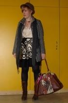 next dress - H&M coat - H&M scarf - united colors of benetton purse - Bata shoes