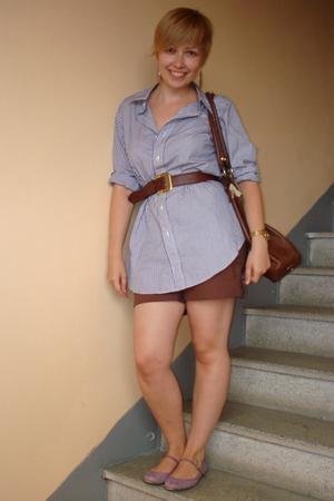 Ralph Lauren shirt - H&M shorts - united colors of benetton purse - Thomas Pink