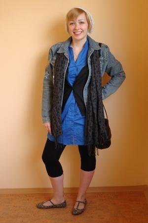 H&M dress - Promod sweater - H&M hat - next jacket