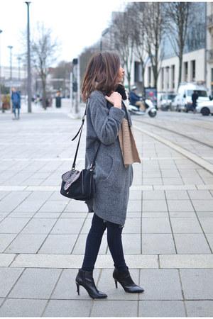 black Jonak boots - black asos jeans - heather gray Zara jacket