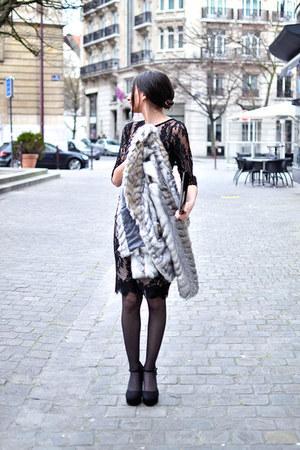 black Eternal bag - white new look coat - black new look sandals