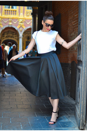 black asos skirt - black Zara heels