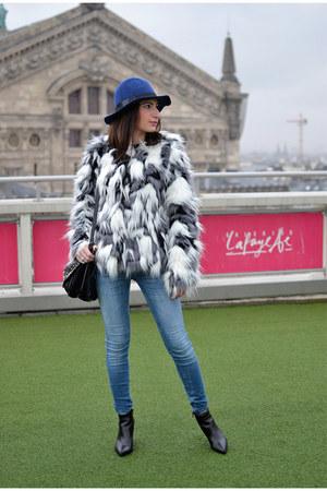 white Vero Moda jacket - black Jonak boots - blue Zara jeans
