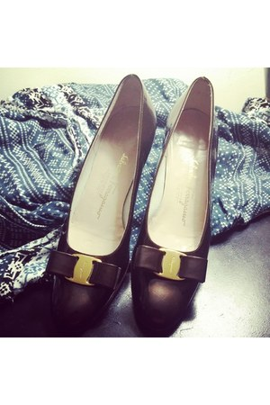 brown Salvatore Ferragamo flats