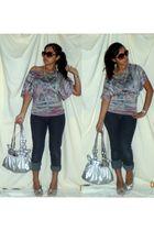 silver Kathy van Zeeland purse
