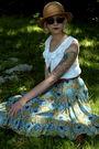 Blue-vintage-skirt