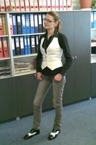 Gucci glasses - H&M blouse - H&M vest - Zara jeans -  shoes