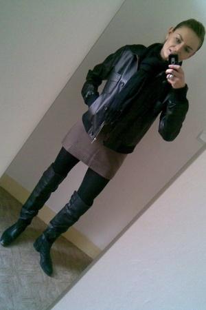 Zara scarf - Zara jacket - H&M - Zara leggings - Zara