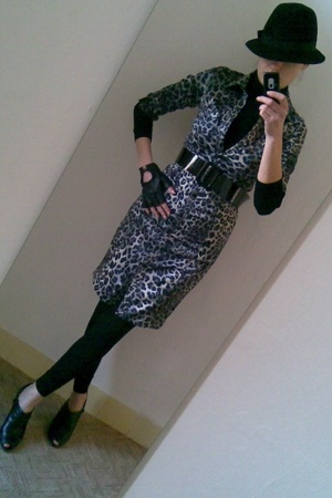 hat - Zara - Zara dress - H&M belt - Zara leggings - Zara shoes