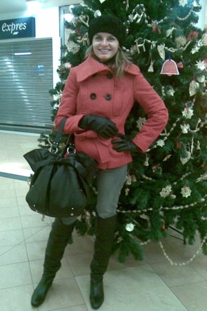 No label - Zara coat - Bata gloves - Zara jeans - Zara - Zara