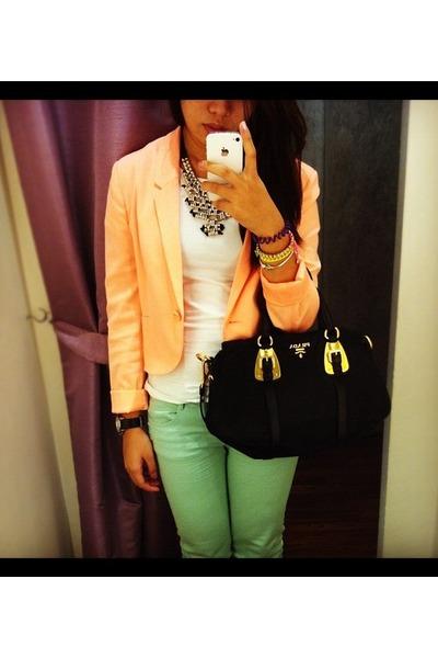 H&M blazer - Zara jeans - Prada bag