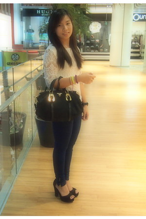 Zara jeans - Prada bag - Love Bonito heels - Kenneth Cole watch