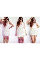 white Forever21 top - white designed by me skirt