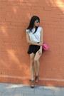 Burnt-orange-primark-shoes-hot-pink-zara-bag-white-suiteblanco-top