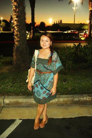 Target dress - brown vintage belt - brown Nine West