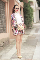 amethyst Chicwish jacket - light yellow Valentino bag - amethyst Chicwish skirt