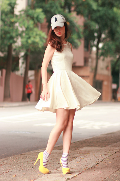 ivory ianywear dress - yellow Sugarfree heels