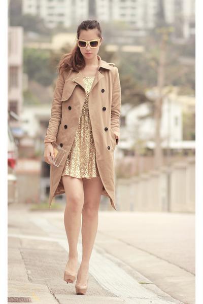 gold romwe dress