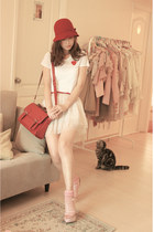 light pink from laurustinus wedges - ruby red wwwromwecom bag