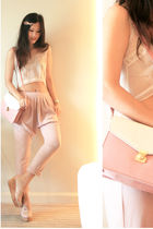 beige JDC vest - pink mistic pants - pink 8020 shoes