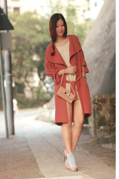 coral Yesstyle coat - light pink Chloe bag - eggshell Giuseppe Zanotti heels