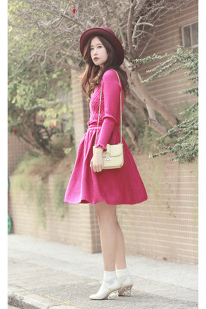 hot pink Chicwish dress