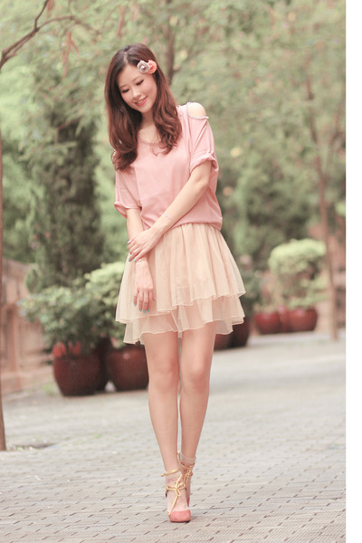eggshell Yesstyle skirt - light pink ianywear top