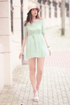 light blue Chicwish dress - ivory Chicwish accessories