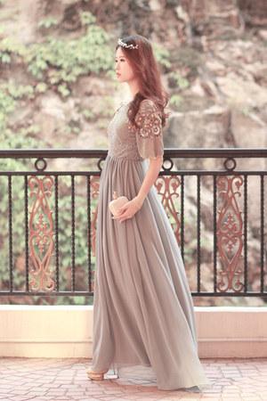 heather gray virgos lounge dress