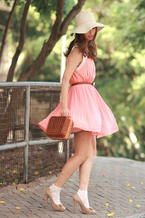 Chloe heels - Chicwish dress - Chicwish bag