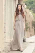 periwinkle beckybwardrobe necklace - heather gray Sheinside dress