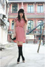 Pink-from-laurustinus-dress-brown-bcbg-hat-beige-chloe-shoes
