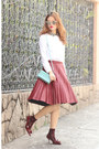 White-carven-shirt-light-blue-carre-royal-bag-brick-red-front-row-shop-skirt