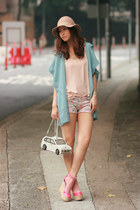 white Amliya bag - light pink Zara shorts - neutral f21 vest