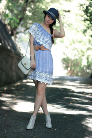 blue Uniqlo hat - blue nine dress