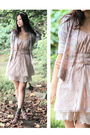 Pink-naive-overlap-cardigan-beige-london-muse-dress-purple-vanity-beauty-sho