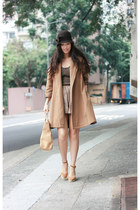 camel coat from mom's closet