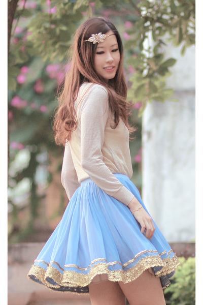 light blue gia london skirt